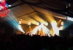 Lichtshow Jackfire bij optreden Ruurlo